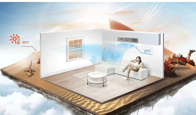 格力中央空调强劲制冷效果展示